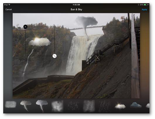 Schermata dell'applicazione Aviary per iPad