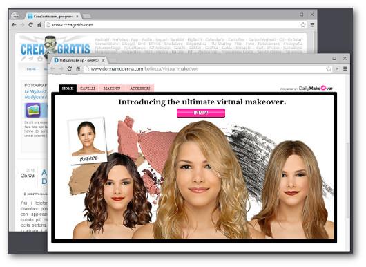 Immagine del sito Donna Moderna Virtual Make Up