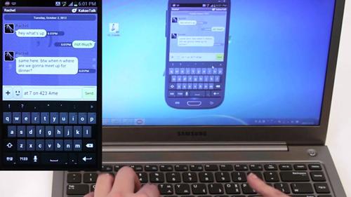 Schermata dell'applicazione Mobizen