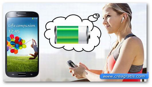 Immagine sul risparmio della batteria Android