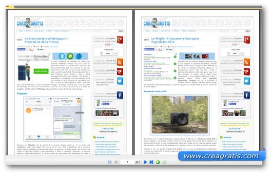 Immagine dell'unione di due PDF ottenuta tramite il sito
