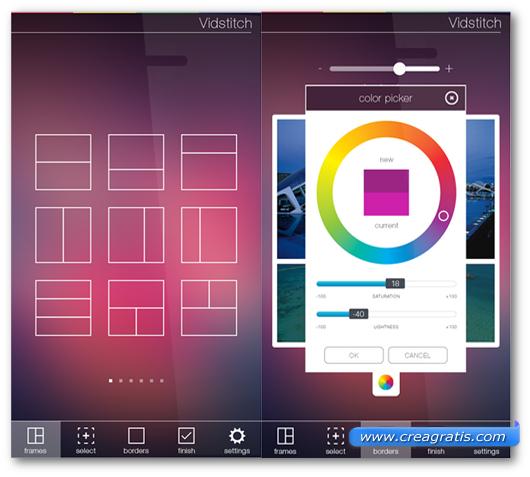 Schermate dell'applicazione VidStitch per Android