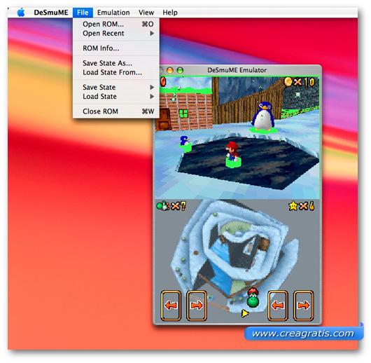 Immagine dell'emulatore DeSmuME