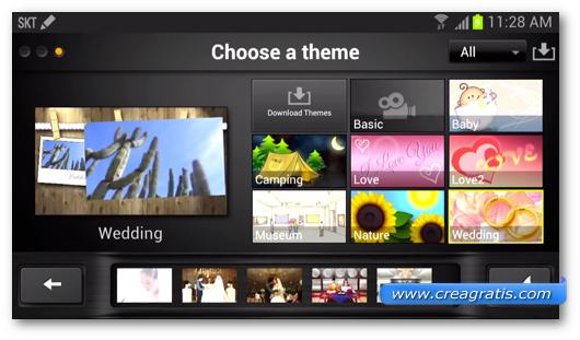 Schermata dell'applicazione KineMaster per Android