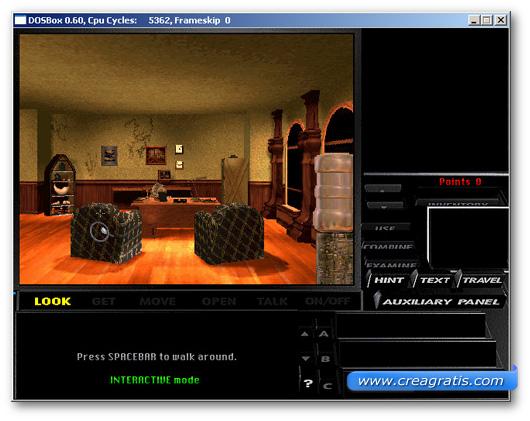 Immagine dell'emulatore DOSBox