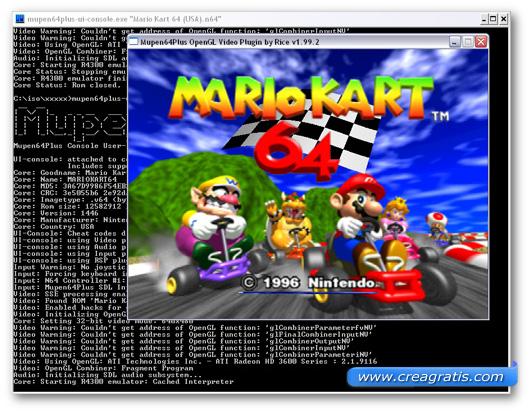 Immagine dell'emulatore Mupen64plus