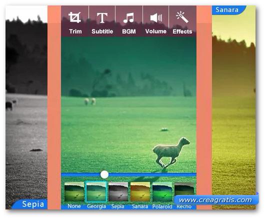 Schermate dell'applicazione VideoShow per Android