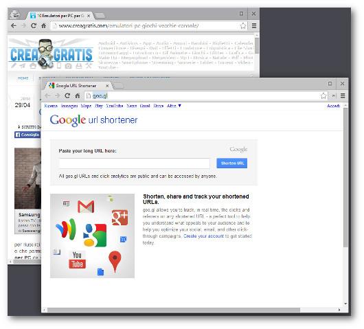 Immagine dello strumento di Google Url Shortener