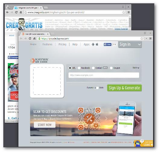 Immagine dell'applicazione Kaywa QR Code