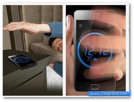 Immagini dell'applicazione Wave Alarm per Android