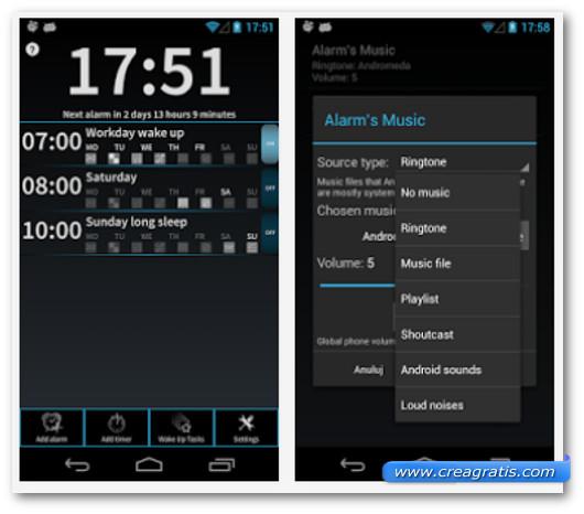 Schermate dell'applicazione I Can't Wake Up Alarm Clock per Android