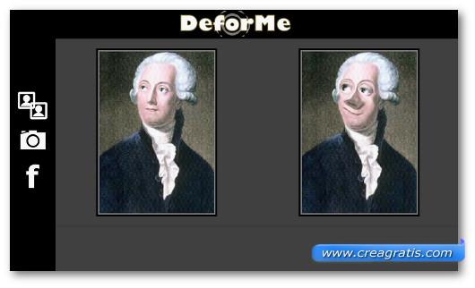 Schermate dell'applicazione DeforMe per Android