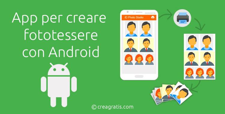 App per creare fototessere con Android