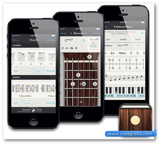 Schermate dell'applicazione Chord! per iPhone e iPad
