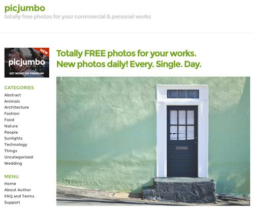 Immagine del sito PicJumbo