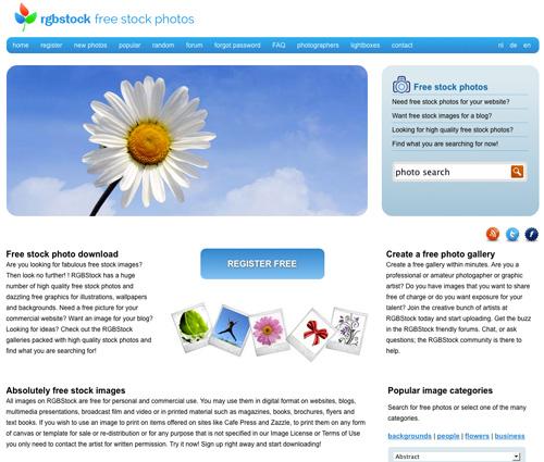 Immagine del sito RGBStock