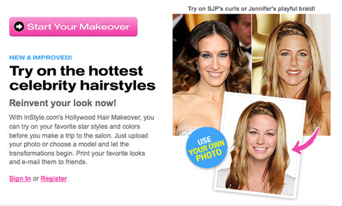 Immagine del sito Hollywood Hair Makeover
