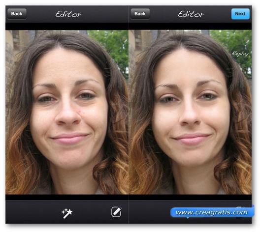 Schermate dell'applicazione Pixtr per iPhone e iPad