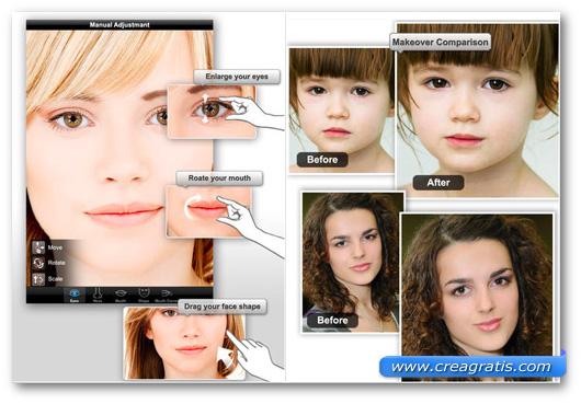 Schermate dell'applicazione Photo Makeover per iPhone e iPad