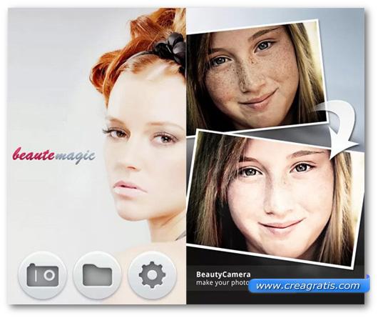 Schermate dell'applicazione Beauty Camera per Android