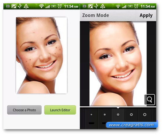 Schermate dell'applicazione Pimple Remover Photo Retouch per Android