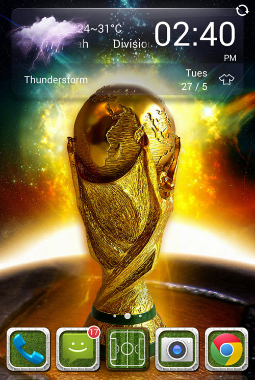 Schermata del tema The Brazil World Cup per Android