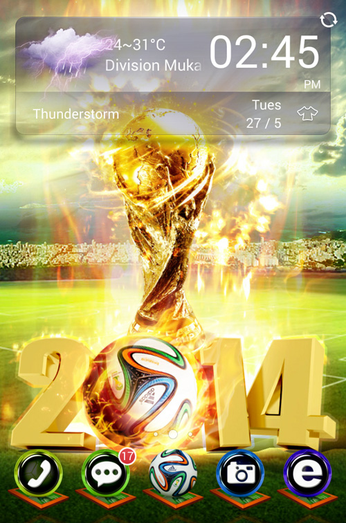 Schermata del tema World Cup Trophy per Android