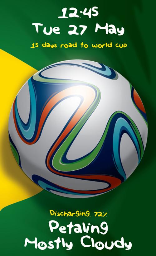 Schermata del tema World Cup Brazil per Android