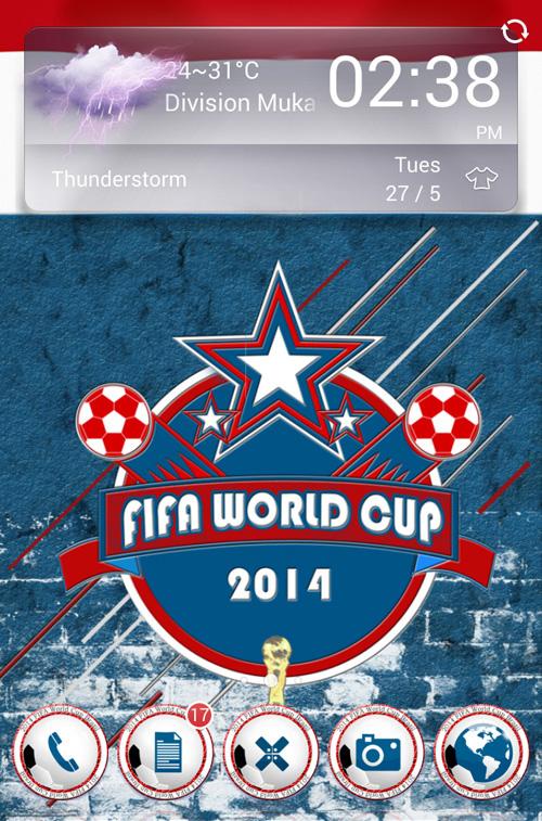 Schermata del tema 2014 FIFA World Cup per Android