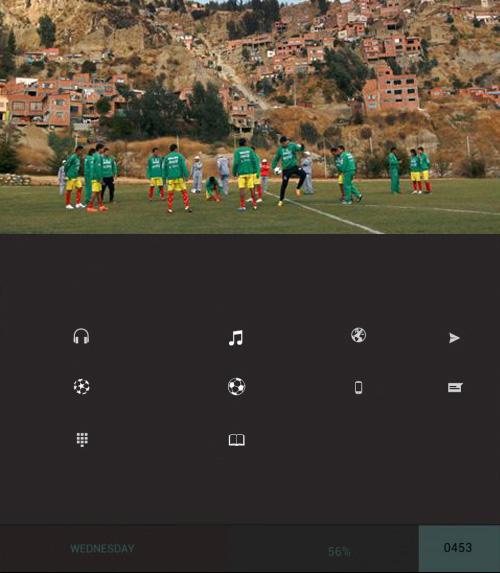 Schermata del tema Football per Android