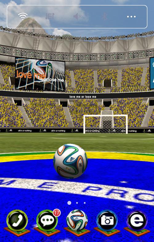 Schermata del tema Adidas 2014 FIFA World Cup LWP per Android