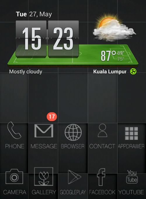 Schermata del tema Rio Football World Cup Theme per Android