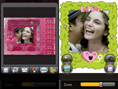 Schermate dell'app Love Photo Frames per Android