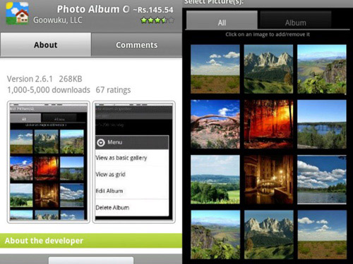 Schermate dell'app Photo Album Organizer per Android