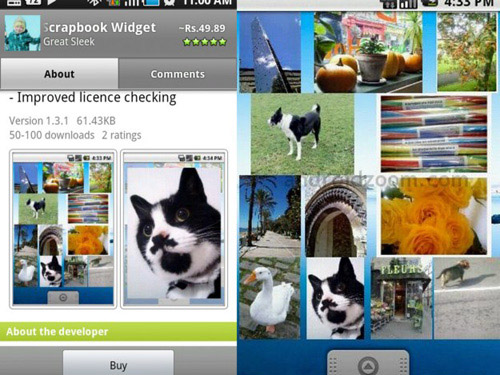 Schermate dell'app Photo Scrapbook per Android
