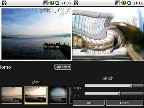 Schermate dell'app Photo Effects per Android