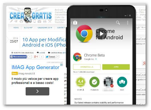 Schermata di Google Play per disinstallare le applicazioni