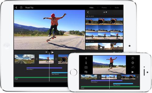 Immagine dell'app iMovie per iPhone e iPad