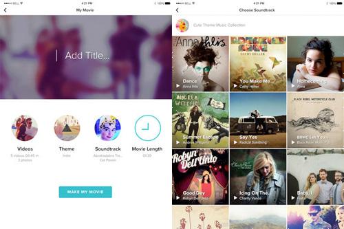 Schermate dell'applicazione Magisto per Android e iOS