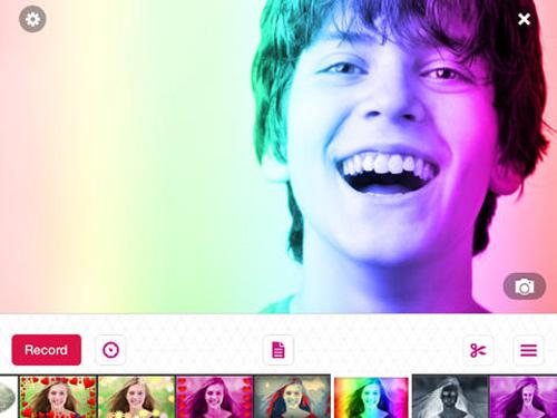 Schermata dell'applicazione Video Star per iOS