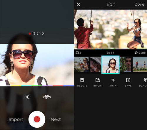 Schermate dell'app MixBit per Android e iOS