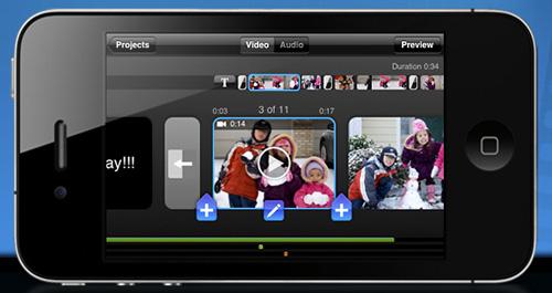 Schermata dell'app Splice per iPhone e iPad