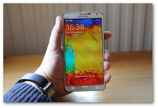 Immagine dello smartphone Samsung Galaxy Note 3