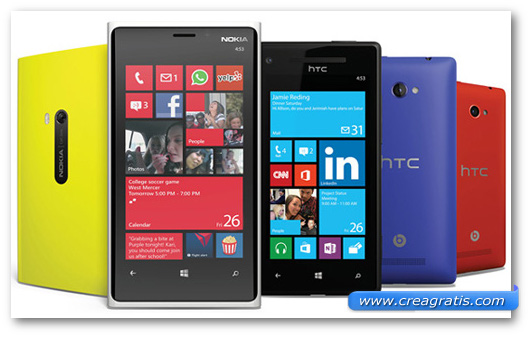Windows Phone su smartphone Nokia e HTC