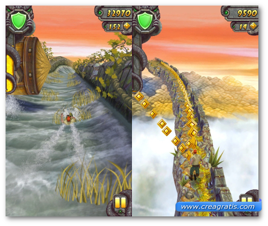 Schermate del gioco Temple Run per Windows Phone