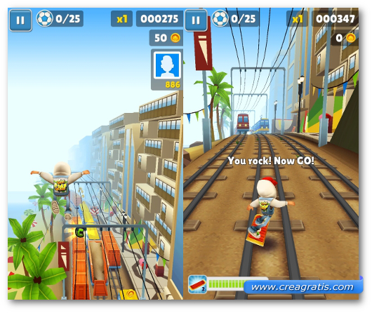 Schermate del gioco Subway Surfers  per Windows Phone