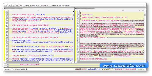Schermata dello strumento online Diff Now