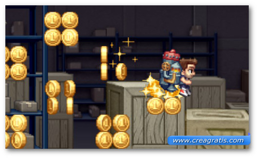 Schermata del gioco Jetpack Joyride per Windows Phone