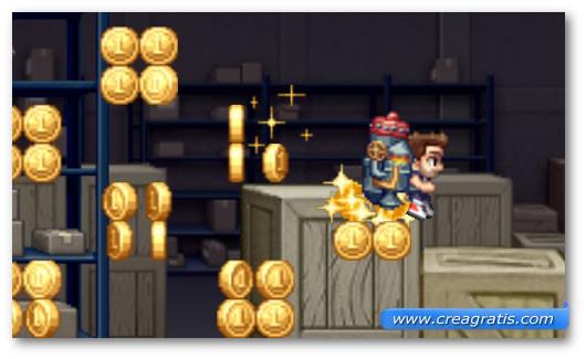 Schermata del gioco Jetpack Joyride per Windows Phone
