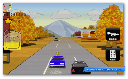 Schermata del gioco Car Run per Windows Phone